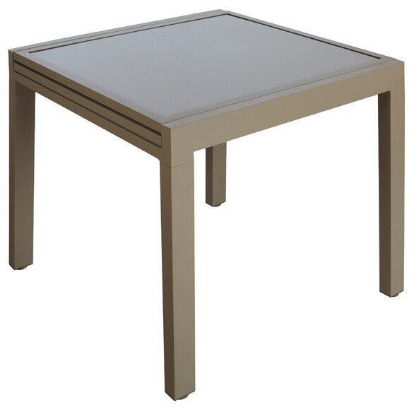 Mesa extensible de aluminio olivia topo ref 17803744 for Table extensible leroy merlin