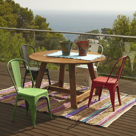Mesa de madera soho ref 17856916 leroy merlin - Leroy mesas jardin ...
