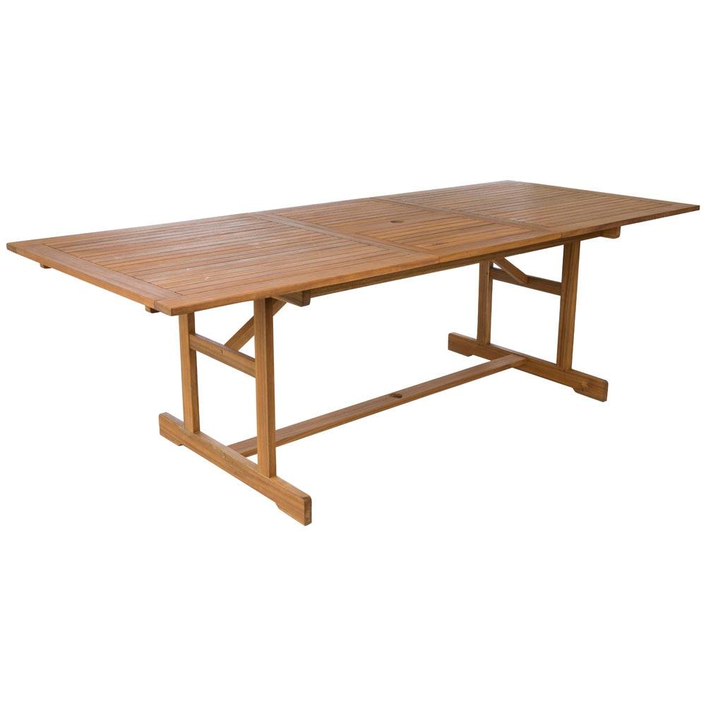 Mesa extensible de madera acacia 150 210 ref 19207041 - Mesa acacia extensible ...