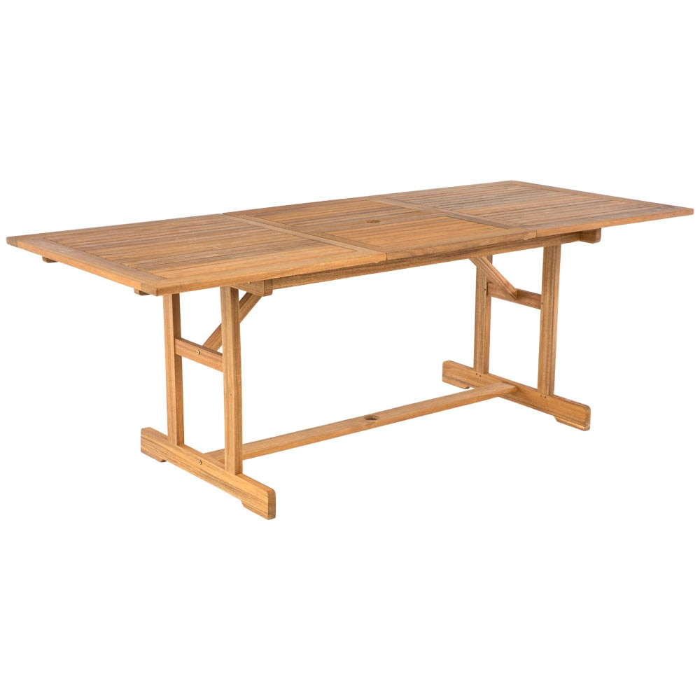 Mesa extensible de madera acacia 180 240 ref 19208392 - Mesa acacia extensible ...