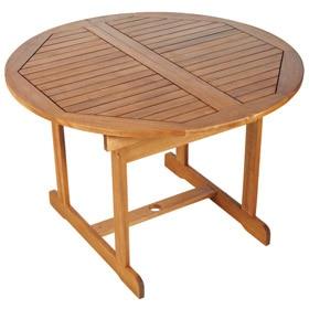 Dos sillas de madera acacia ref 13107612 leroy merlin - Mesas redondas de madera ...