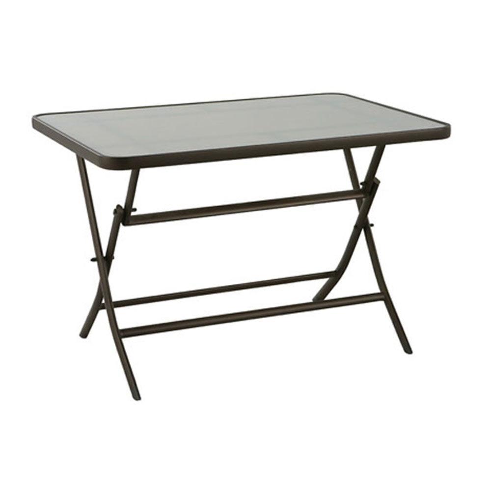 Mesa de aluminio algarve ref 14561813 leroy merlin - Leroy merlin cristal mesa ...