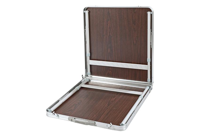 Mesa de aluminio y madera camping m ref 15962233 leroy - Mesa plegable maleta leroy merlin ...