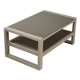 Mesa de aluminio y vidrio caribe comedor ref 17198713 for Mesas de comedor de cristal y aluminio