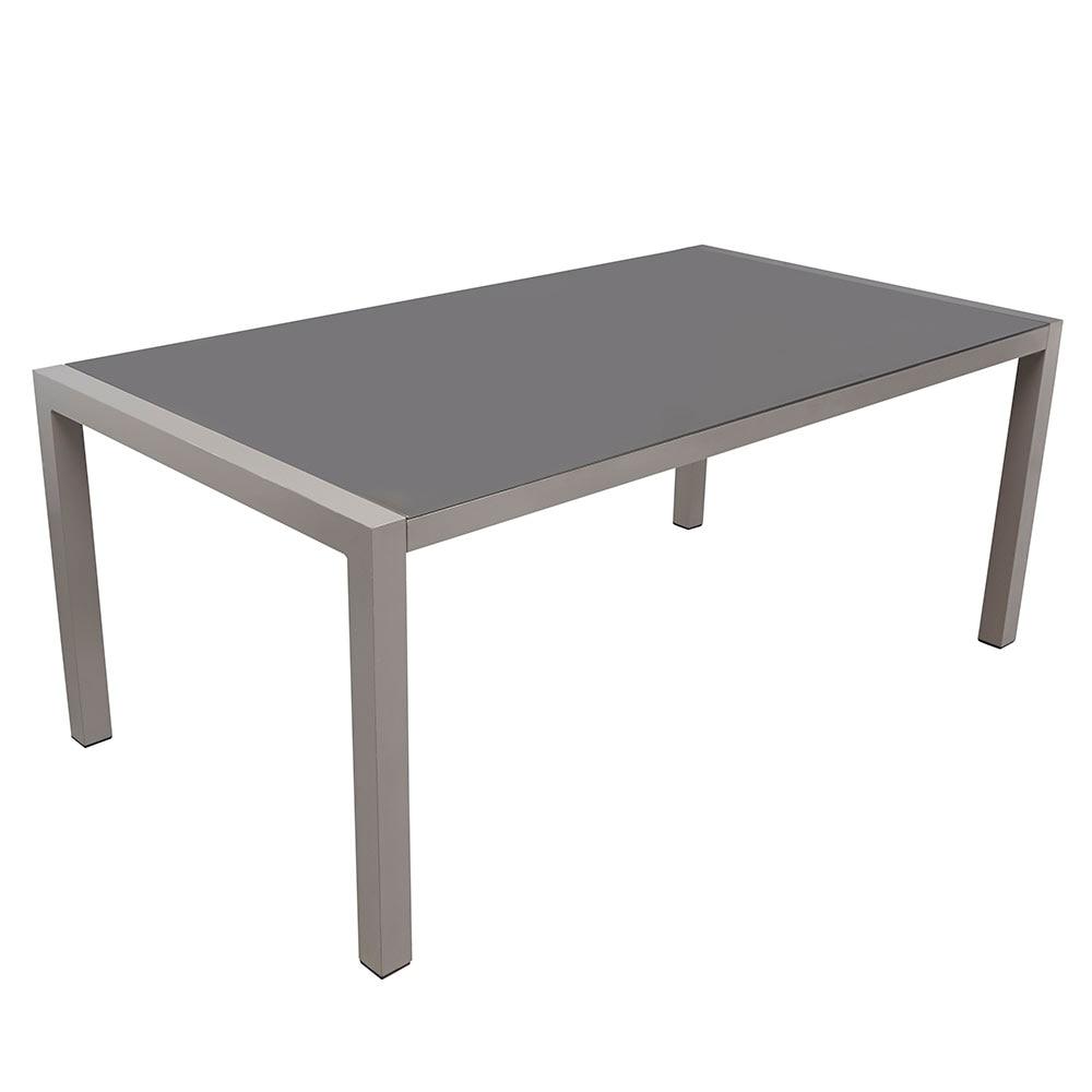 Mesa de aluminio y vidrio caribe comedor ref 17198713 - Mesas de comedor leroy merlin ...