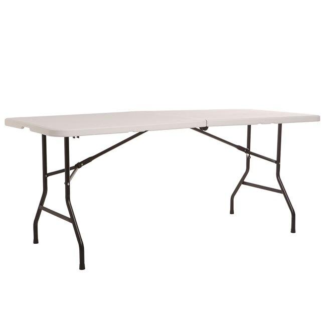 Mesa plegable de acero y resina catering easy m ref - Mesa plegable maleta leroy merlin ...