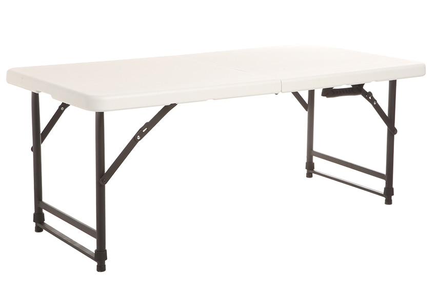 Mesa plegable de acero y resina catering easy p ref for Mesas altas leroy merlin