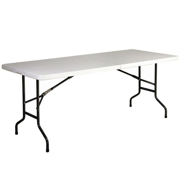 Mesa plegable de acero y resina catering lifetime ref - Mesa plegable playa ...