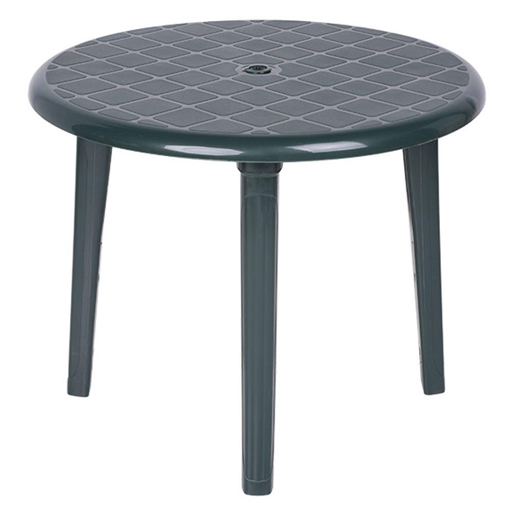 Mesa de resina costa redonda ref 13775846 leroy merlin for Arcones de resina para exterior