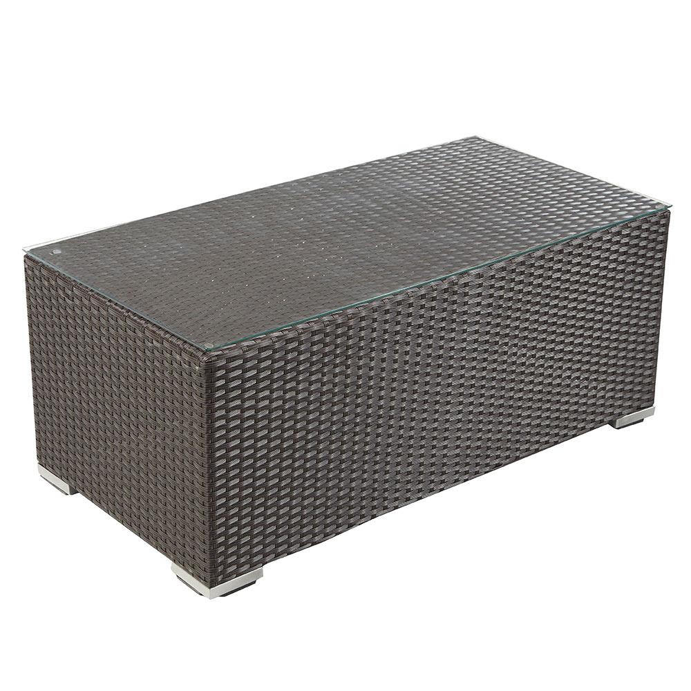 Mesa de acero y rat n jamaica rectangular ref 17205146 leroy merlin - Mesa camilla rectangular leroy merlin ...
