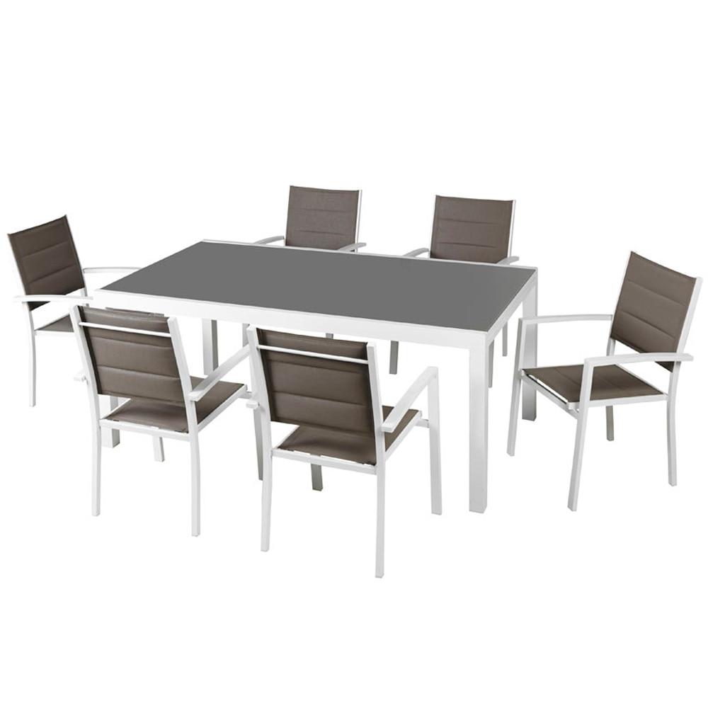 Mesa de aluminio lisboa ref 17783626 leroy merlin for Leroy merlin cristal mesa