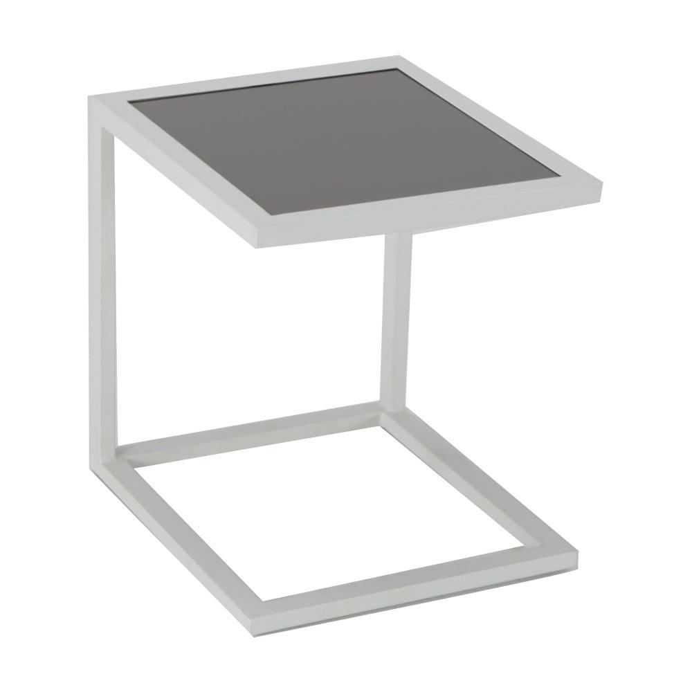 Mesa auxiliar de aluminio trenzado LISBOA CUADRADA Ref. 81867417 ...