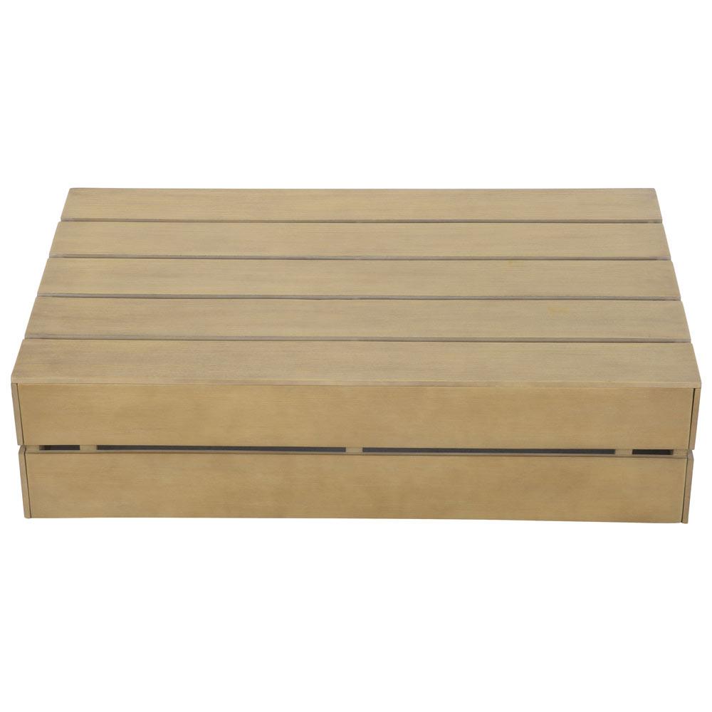 Mesa de madera de acacia montevideo ref 19200272 leroy for Muebles madera montevideo