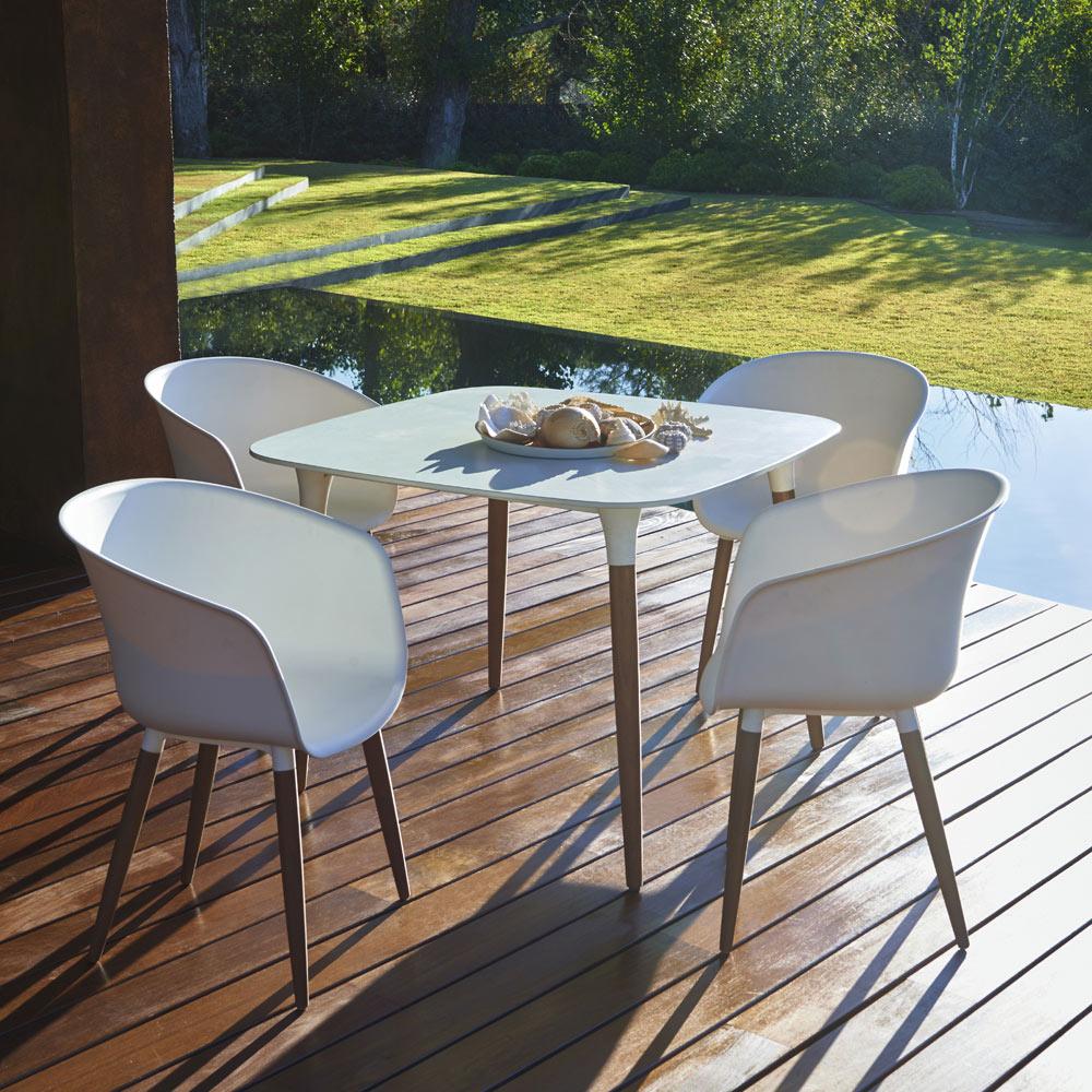 Mesa cuadrada blanca montmartre cuadrada ref 19198305 - Mesa y silla infantil leroy merlin ...