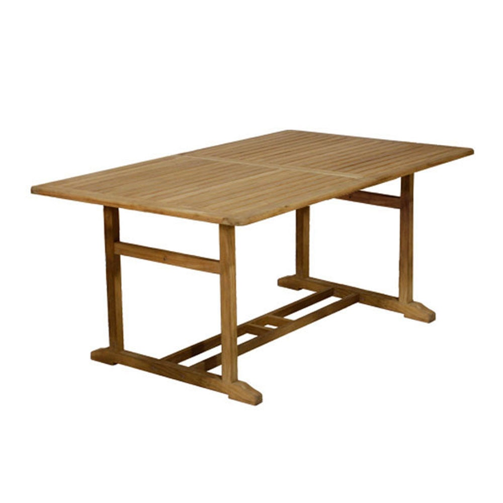 Mesa extensible de madera de teca noelia ref 14056854 - Mesa de teca ...