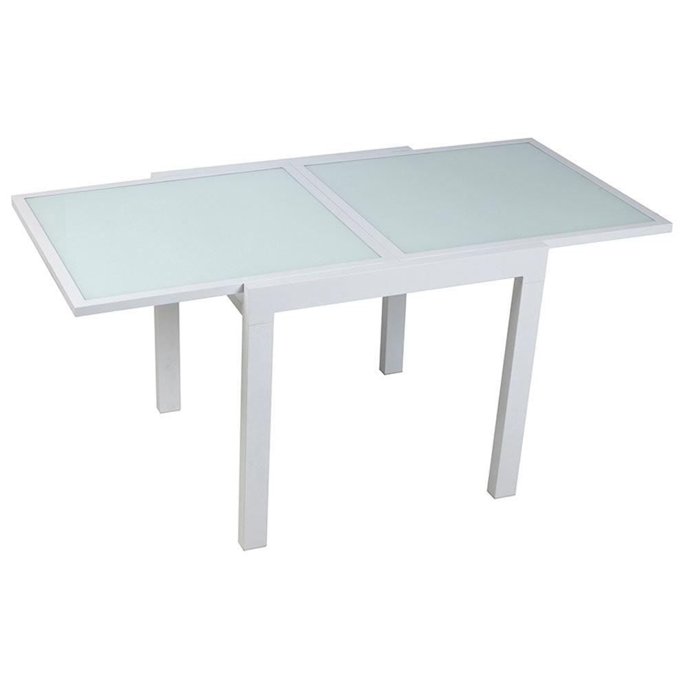 Mesa extensible de aluminio olivia ref 17803730 leroy - Mesas de terraza leroy merlin ...