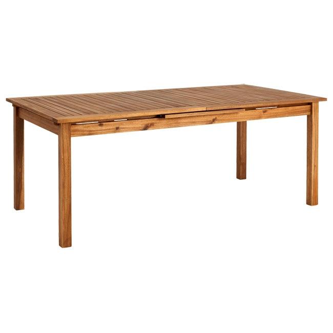 Mesa extensible de madera de acacia porto rectangular ref 81868516 leroy merlin - Mesa acacia extensible ...