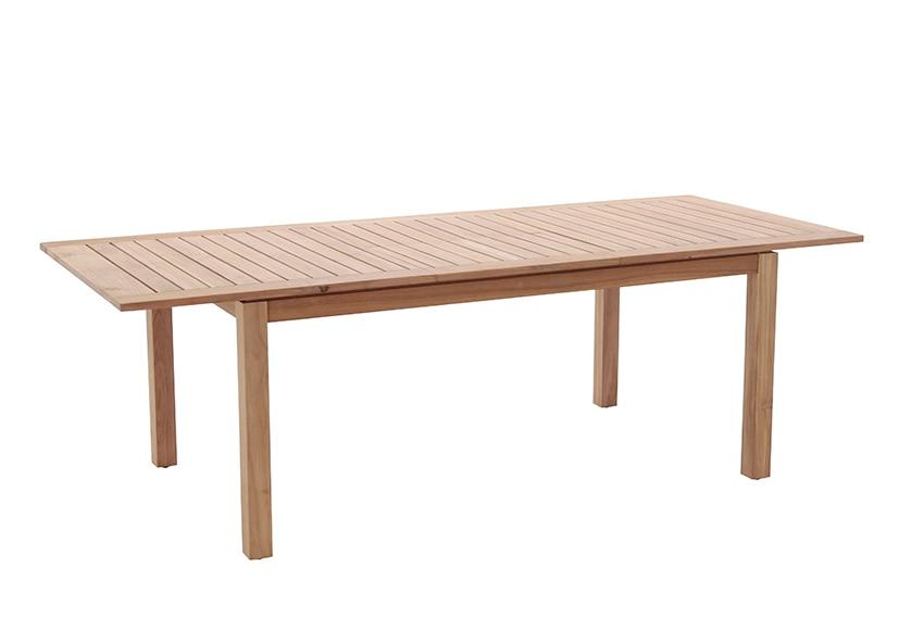 Mesa extensible de madera de teca prince ref 17355275 leroy merlin - Mesa extensible de madera ...