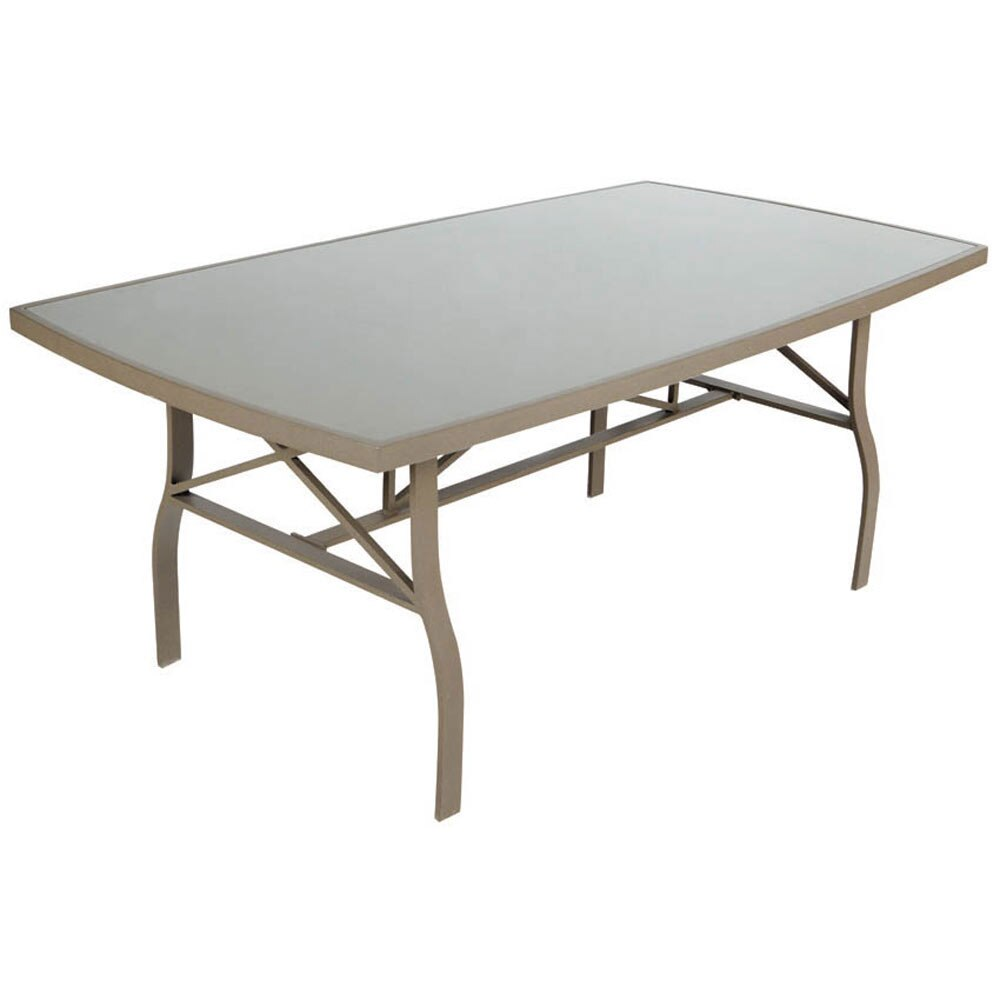 Mesa de aluminio y vidrio roma rectangular ref 14564242 for Mesa de vidrio rectangular