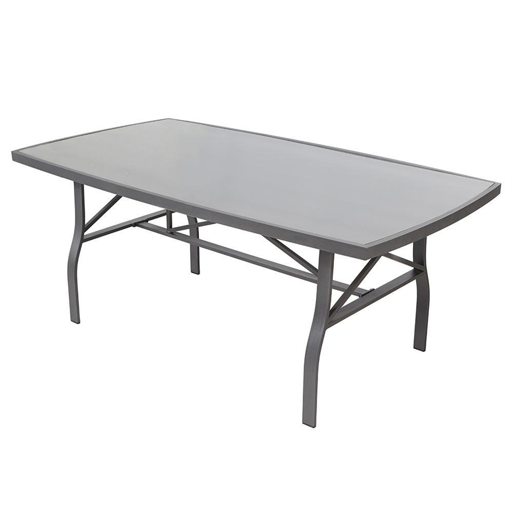 Mesa de aluminio y vidrio roma rectangular ref 17251024 for Mesa de vidrio rectangular