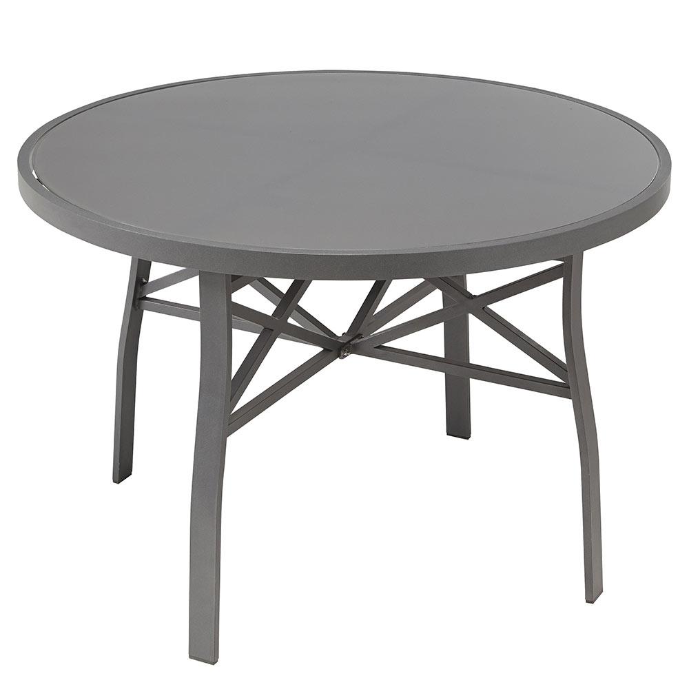 Mesa de aluminio y vidrio roma redonda ref 17251073 - Mesa camilla redonda leroy merlin ...