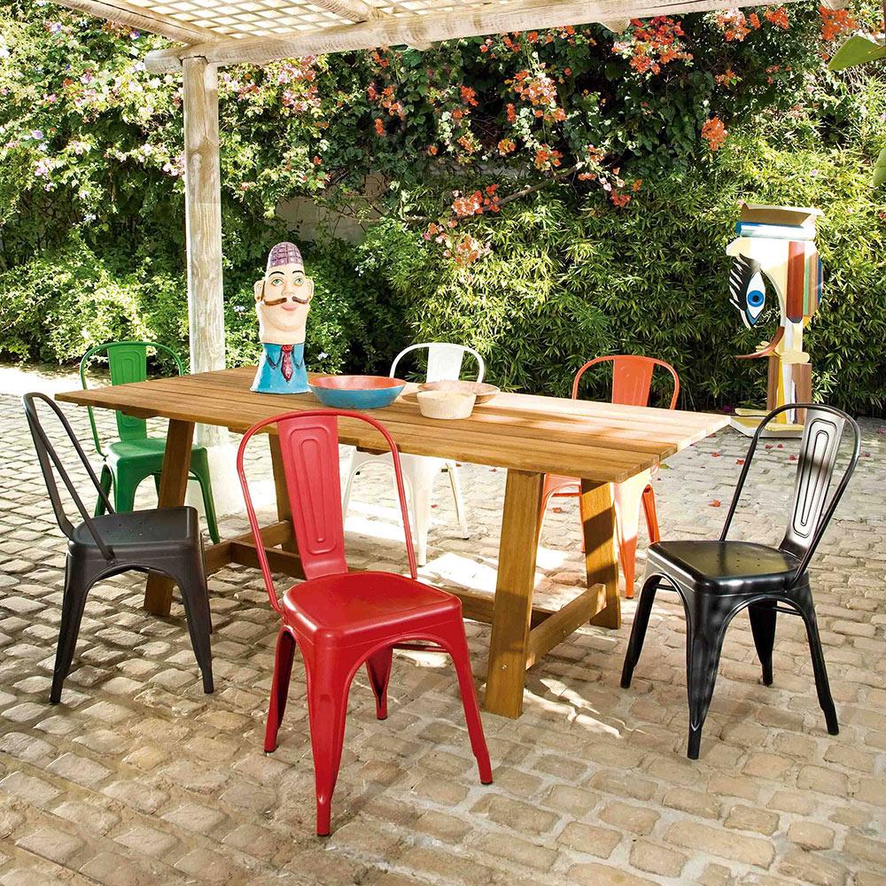 Mesa de madera soho ref 17784375 leroy merlin for Vallado de madera jardin leroy merlin