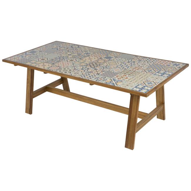 Mesa madera de acacia soho ref 19157411 leroy merlin - Mesa y silla infantil leroy merlin ...