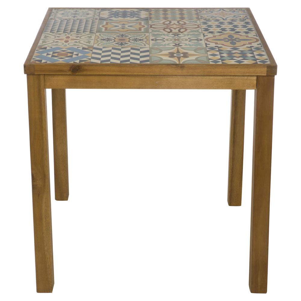 Mesa de madera de acacia SOHO CERÁMICA Ref. 19227201 - Leroy ...