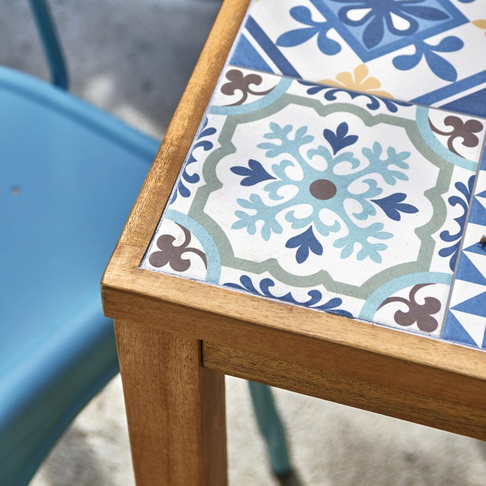 Mesa de madera de acacia soho cer mica ref 19227201 - Ceramica leroy merlin ...