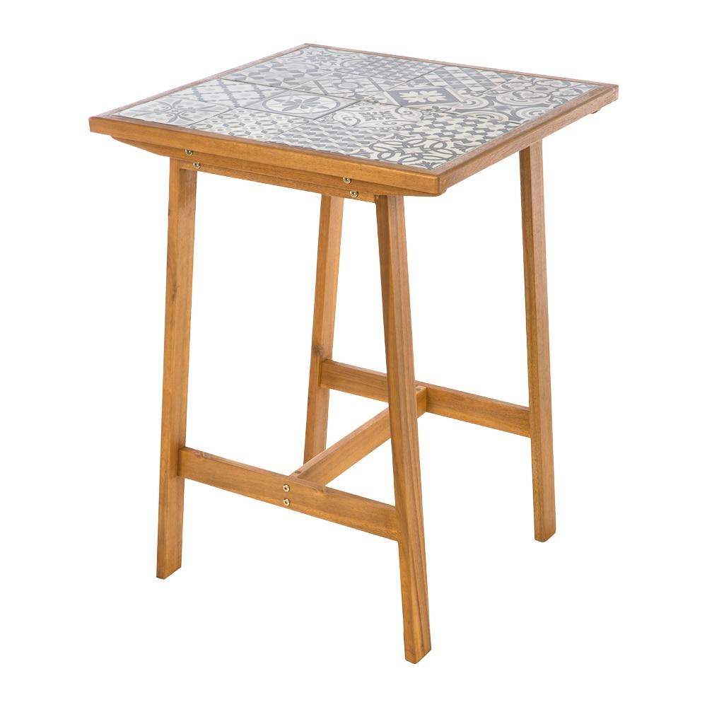 Mesa alta de madera y cerámica SOHO CERAMICA C Ref. 82004414 - Leroy ...