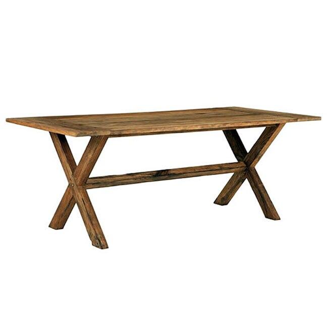 Mesa de madera de teca tanzania grande ref 15285151 - Sillas exterior leroy merlin ...