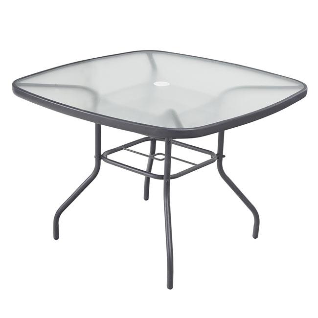 Mesa de acero y vidrio veracruz rectangular ref 17199973 - Mesa camilla rectangular leroy merlin ...