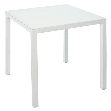 Mesa de acero textileno y vidrio zahara cuadrada ref - Mesas escritorio leroy merlin ...