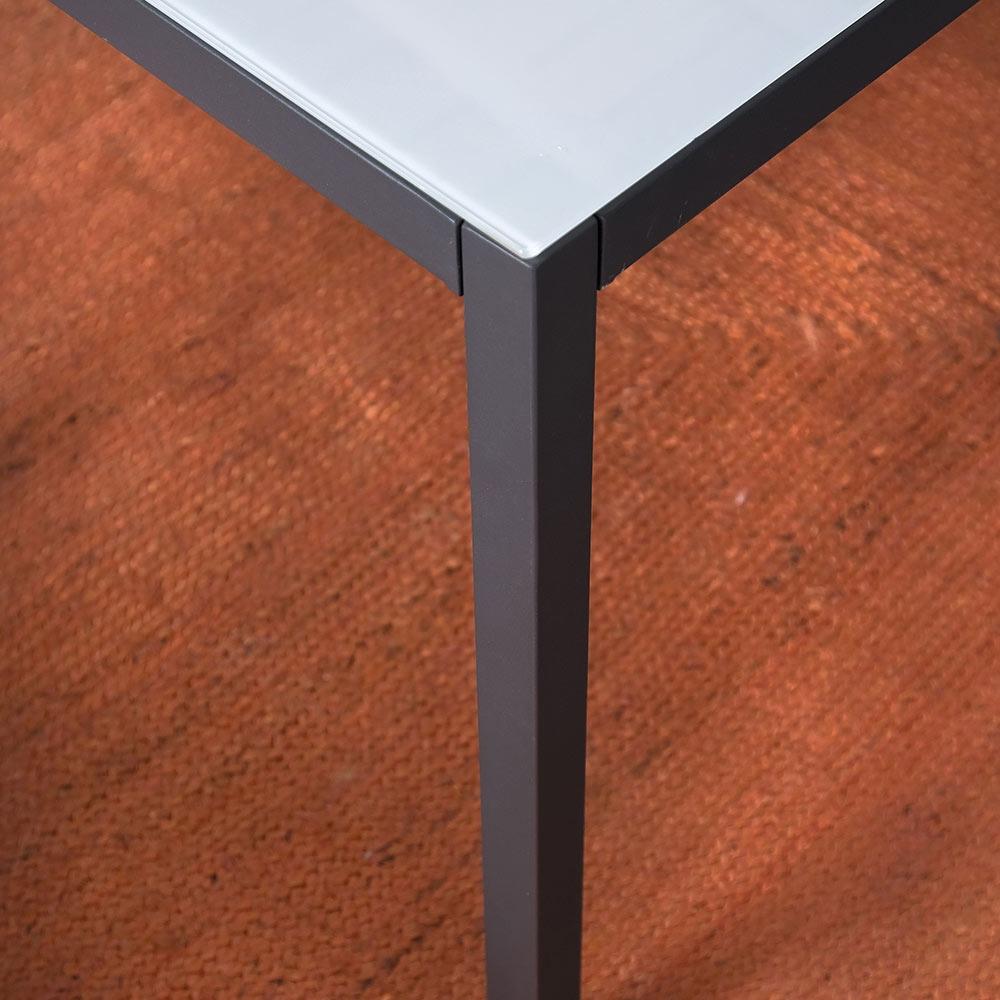 Mesa de acero y vidrio zahara rectangular ref 17803982 - Mesa camilla rectangular leroy merlin ...