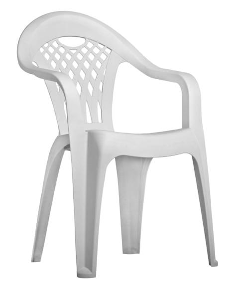 Silla de resina canc n blanco ref 14652883 leroy merlin for Sillas para terrazas baratas