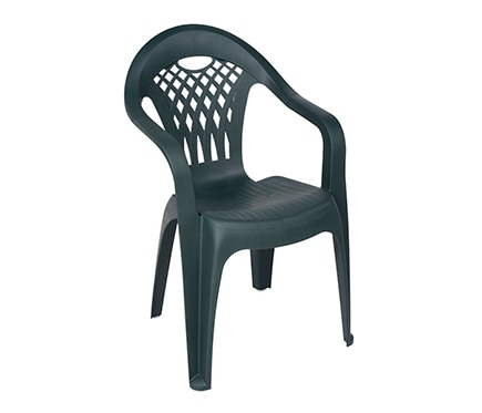 Silla de resina canc n verde ref 14652911 leroy merlin for Outlet muebles cancun