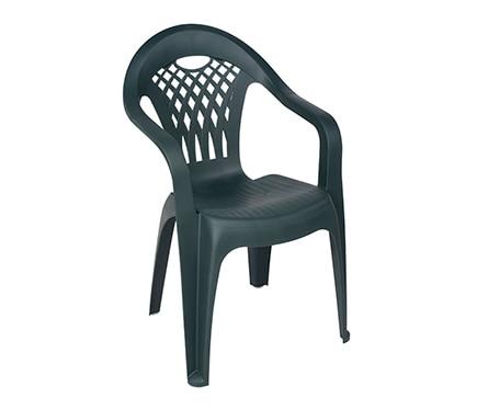 Silla de resina canc n verde ref 14652911 leroy merlin for Bancos de jardin de plastico