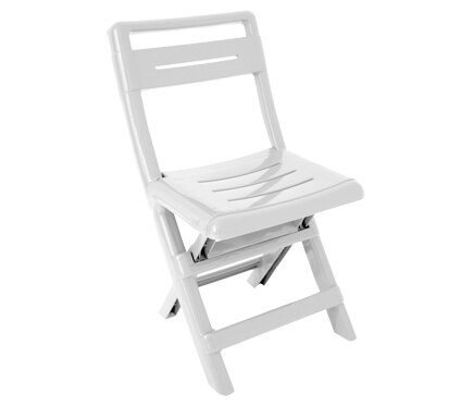 Silla plegable de polipropileno conil blanca ref 15714741 for Silla plegable blanca