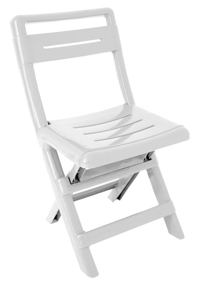 Silla plegable de polipropileno conil blanca ref 15714741 for Sillas oficina leroy merlin