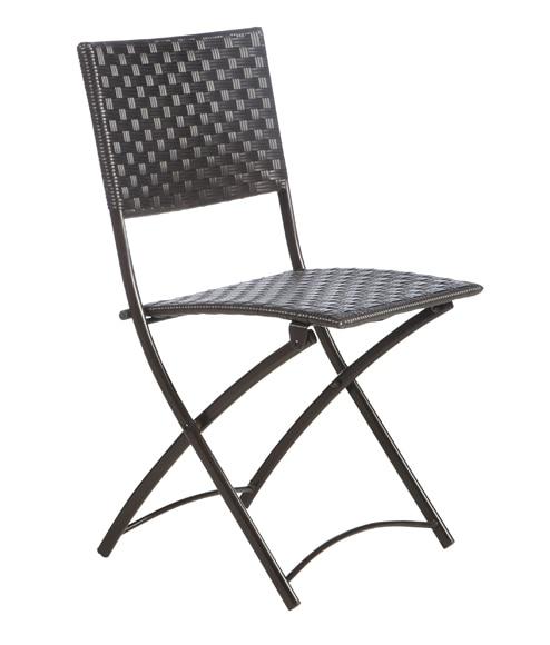 Dos sillas de acero y rat n sint tico nerja ref 15960140 for Sillas plegables terraza