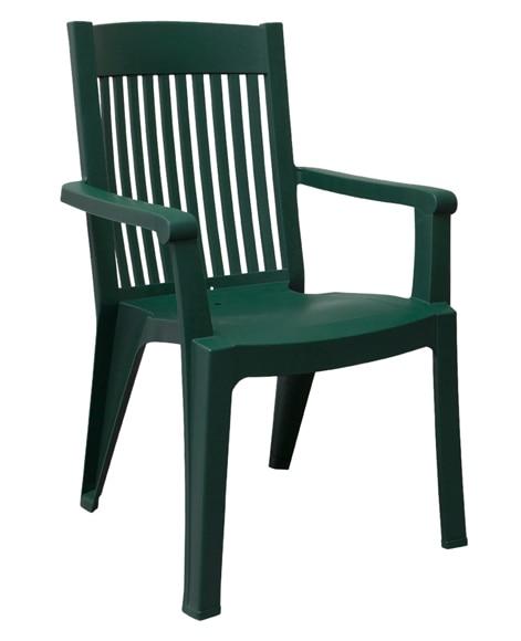 Silla de resina fidji verde ref 16239951 leroy merlin - Sillas de resina ...