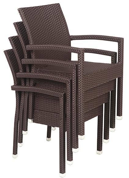 silla de aluminio y rat n sint tico jamaica marr n ref
