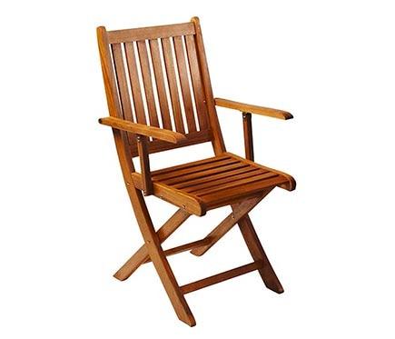 Dos sillas de madera de acacia acacia ref 16568664 for Sillas giratorias leroy merlin