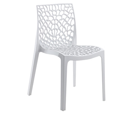 Silla de resina gruyer blanco ref 16764314 leroy merlin for Sillas cocina leroy merlin