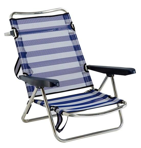 Silla de aluminio y textileno playa basic ref 17101672 for Sillas de jardin alcampo