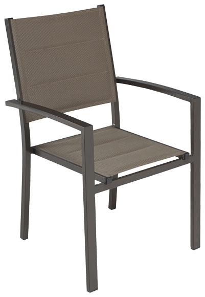Silla de aluminio y textileno LISBOA CHOCOLATE Ref. 17204922 ...