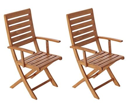 Dos sillas de madera viena ref 17236681 leroy merlin - Sillas plegables leroy merlin ...