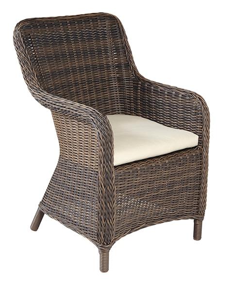 Dos sillones de aluminio y rat n sint tico ankara ref for Sillones de ratan para jardin