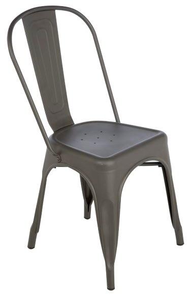 Silla de acero soho gris ref 17806173 leroy merlin for Silla giratoria leroy merlin