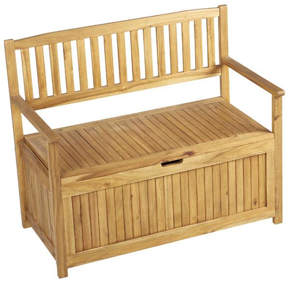 Banco de madera asturias ref 17856125 leroy merlin for Sofa con almacenaje